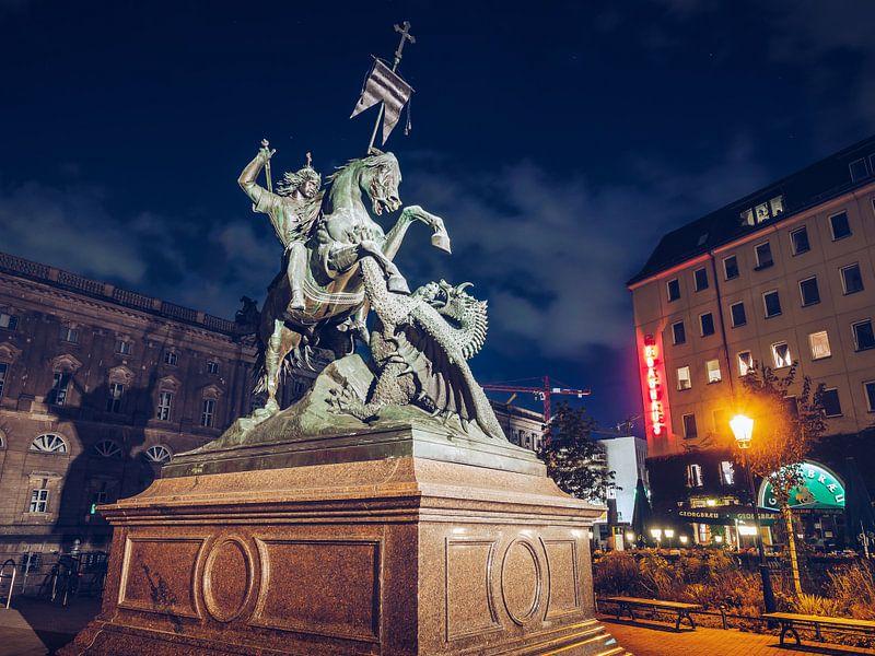 Berlin – Nicholas' Quarter / Saint George Statue van Alexander Voss