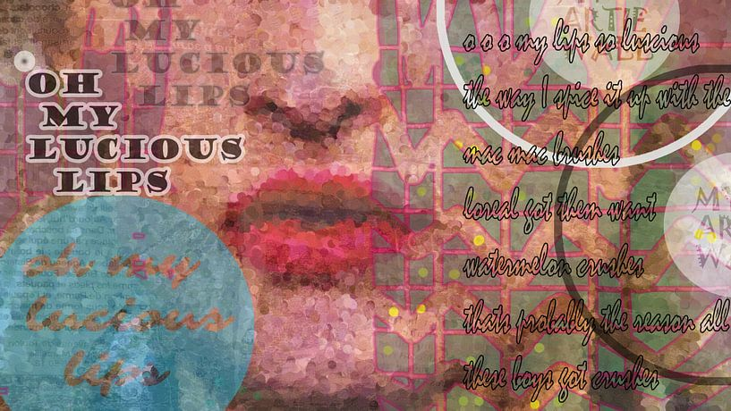 OH MY LUCIOUS LIPS van Marijke Mulder