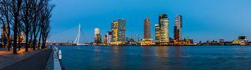 Rotterdam Panoramisch uitzicht Rotterdam Westerkade van