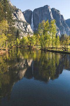 Yosemite Falls weerspiegeling van Joris Pannemans - Loris Photography