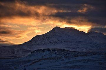 Sonnenuntergang im Winter von Elisa in Iceland