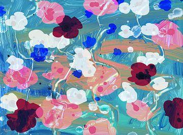 Diepzee bloemen van ART Eva Maria