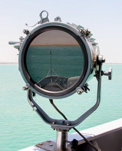 Suez Kanaal in Seinlamp