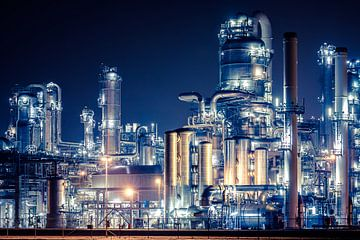 Industrie op de Rotterdamse Maasvlakte sur