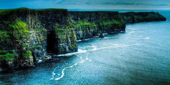 Dark Sea at the Cliffs of Moher, The Burren, Ireland