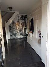 Klantfoto: Westertoren / Cafe de Reiger Zwart-Wit van PIX URBAN PHOTOGRAPHY, als behang