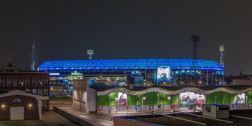 Feyenoord Rotterdam stadion De Kuip at Night - 20 van Tux Photography