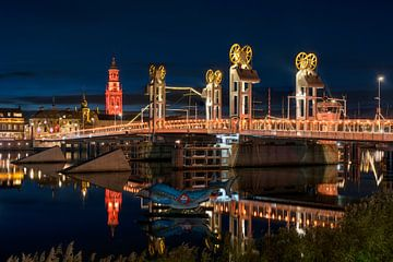 Stadtfront Kampen mit Stadtbrücke