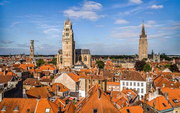 Vue sur la ville de Brugge sur MS Fotografie | Marc van der Stelt