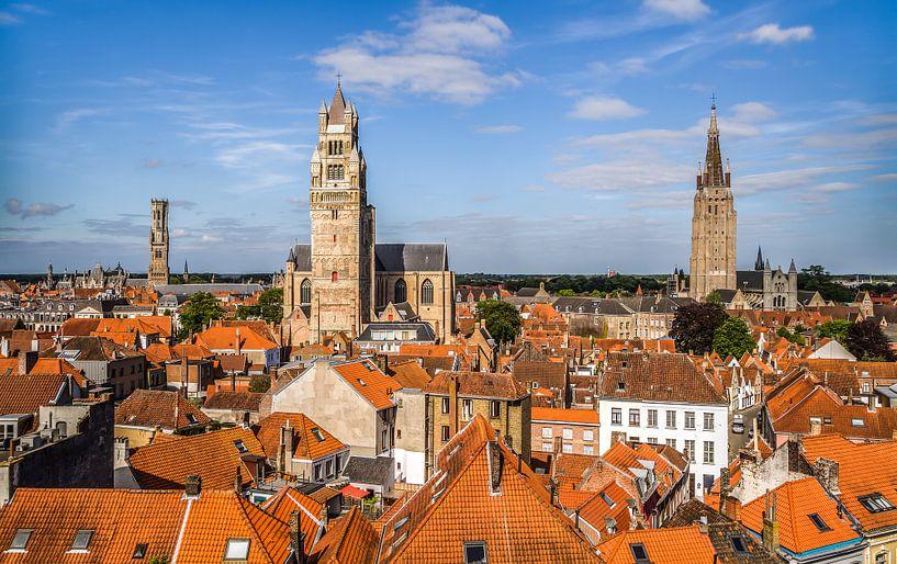 Het stadsgezicht van Brugge van MS Fotografie   Marc van der Stelt