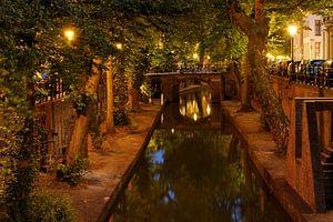 Nieuwegracht in Utrecht tussen de Brigittenbrug en de Quintijnsbrug