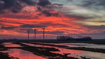 Winter zonsopkomst in januari van Bram van Broekhoven