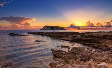 Zonsondergang op Cyprus van Adelheid Smitt