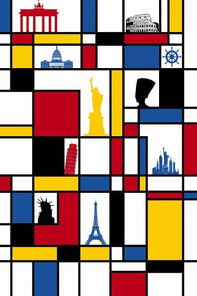 Piet Mondriaan oriëntatiepunt van Marion Tenbergen