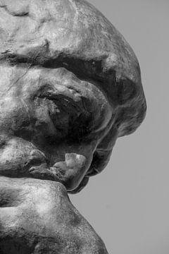 Detail van De Denker in de beeldentuin van het Musée Rodin von Emajeur Fotografie