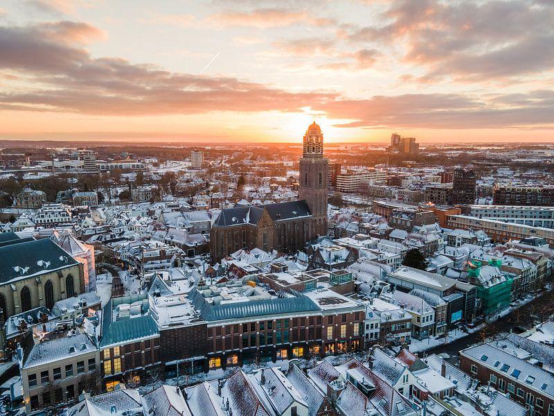 Zwolle in de Sneeuw van Thomas Bartelds