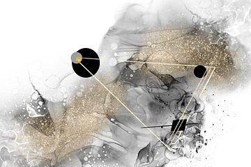ALCOHOL INK Beyond All Galaxies Nr. 1 van Melanie Viola