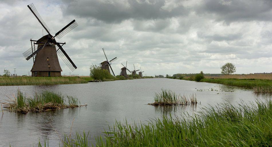 Kinderdijk Nederland van Chris van Kan