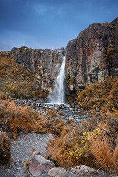 Waterval in Tongariro NP, Nieuw Zeeland van
