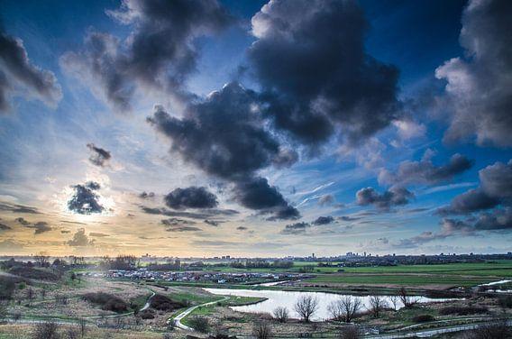 Zonsondergang vanaf Zoetermeer Buytenpark  van Ricardo Bouman | Fotografie