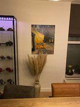 Klantfoto: Caféterras bij nacht van Vincent van Gogh, op aluminium