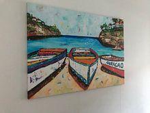 Klantfoto: Playa Lagun van Digitale kunst, op canvas