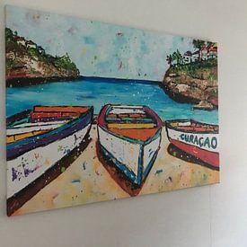 Klantfoto: Playa Lagun van Happy Paintings, op canvas