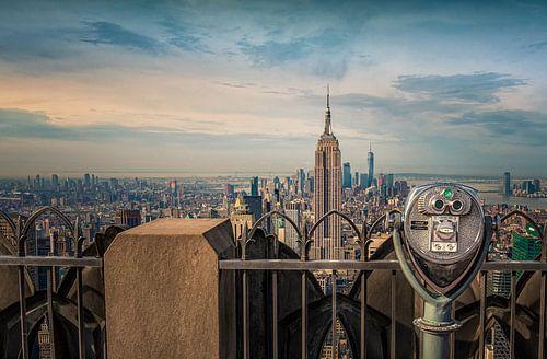 Empire State Building gezien vanaf Top of the Rock van Toon van den Einde