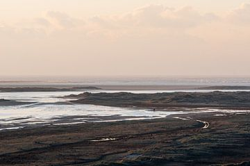 Zicht op het Groene Strand en de Noordsvaarder vanaf het Seinpaalduin op Terschelling van Alex Hamstra