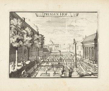Gezicht op het Prinsenhof te Haarlem, Romeyn de Hoogh