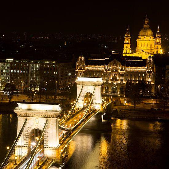 De Kettingbrug in Boedapest Hongarije