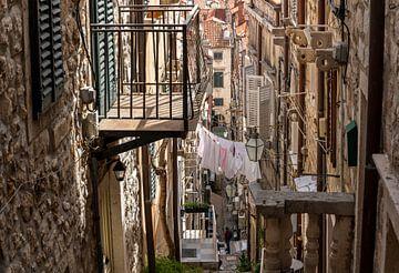 Smal straatje Dubrovnik van Daan Kloeg