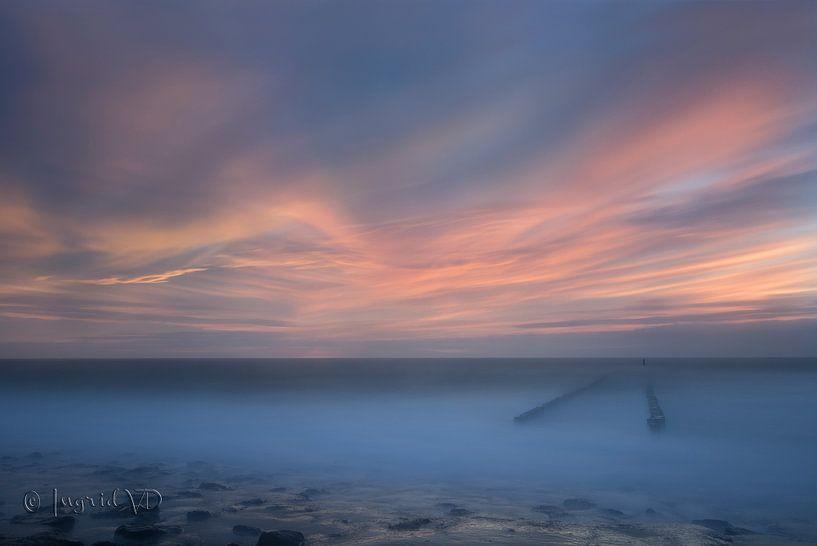 Westkapelle zonsondergang van Ingrid Van Damme fotografie