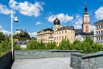 Oude stad van Greiz in Thüringen met kasteel op de achtergrond van Animaflora PicsStock