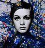 Miss Twiggy - Extreme Splash - Pollock Style  von Felix von Altersheim Miniaturansicht