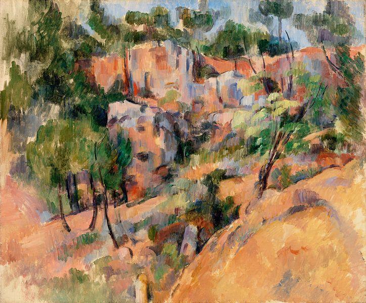 Paul Cézanne, Bibémus (ca. 1894-1895) von Atelier Liesjes