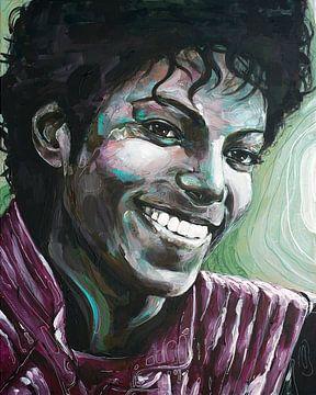 Michael Jackson malerei von Jos Hoppenbrouwers