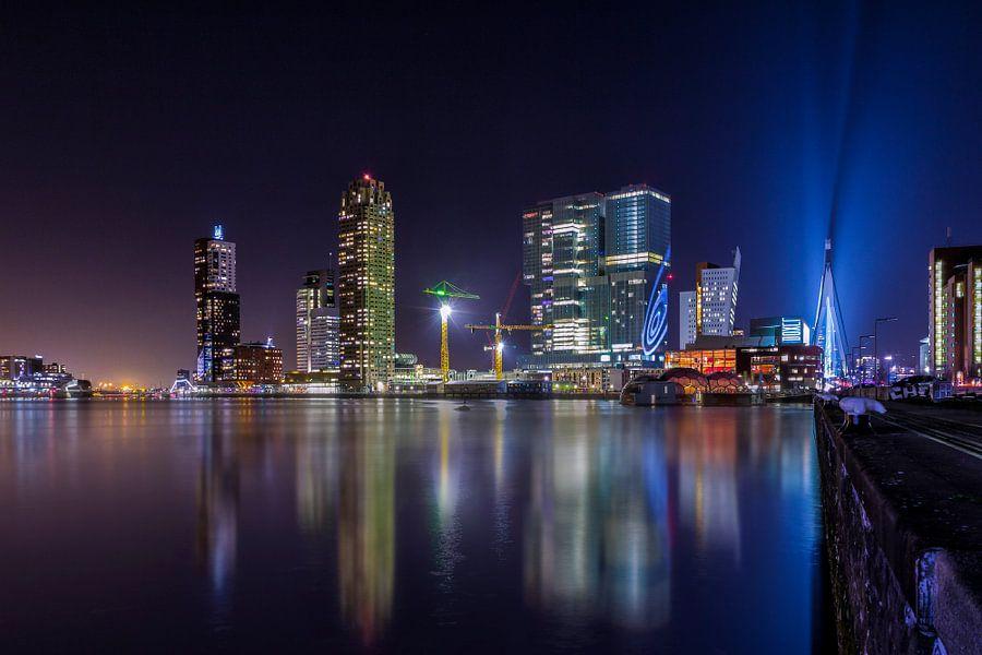 Rotterdam by Night van Marcel Moonen Visuals