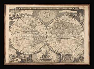 Oude Wereldkaart van omstreeks 1700