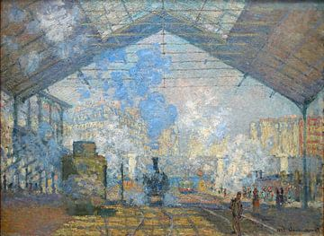 La gare saint-lazare - Claude Monet, 1877