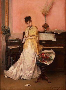 The Bouquet    -   oude meester schilderij van lieve maréchal