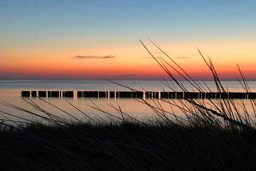 Rügen Dranske Sonnenuntergang van Martina Dormann
