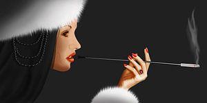 Lady Ninotchka 1 (gekleurde versie)