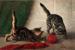 Zwei Kätzchen von Antonije Lazovic