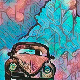 VW Käfer in blauen Wolken von Michael Ladenthin