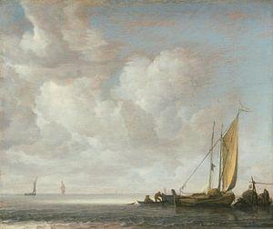 Rustige zee, Simon de Vlieger