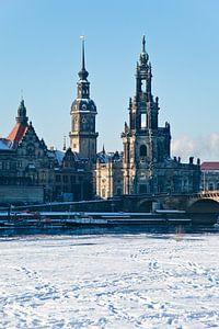 Dresden im Winter von