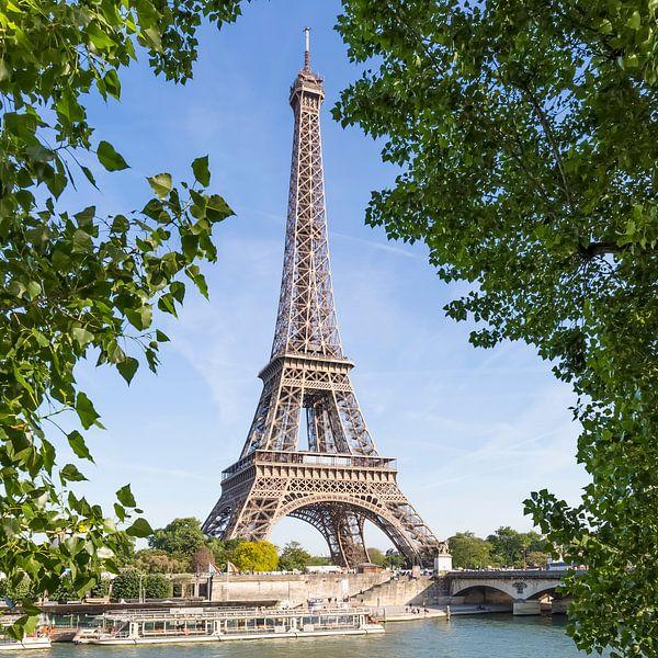 PARIJS Eiffeltoren & Seine van Melanie Viola