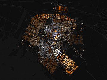 Kaart van Veenendaal abstract sur Stef Verdonk
