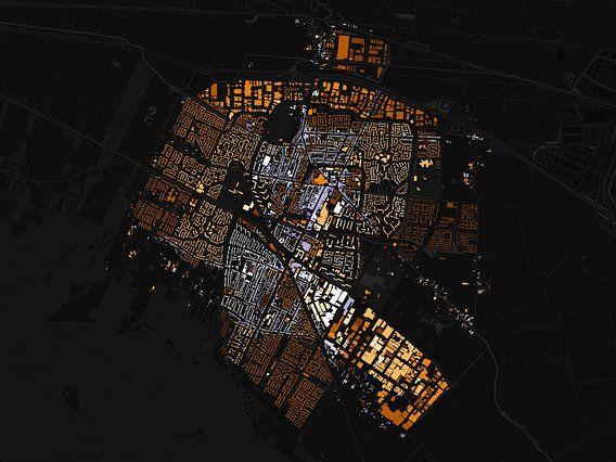 Kaart van Veenendaal abstract